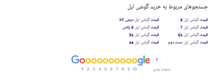 سرچ های مشابه در گوگل به شما کمک میکند عبارت ها را پیدا کنید