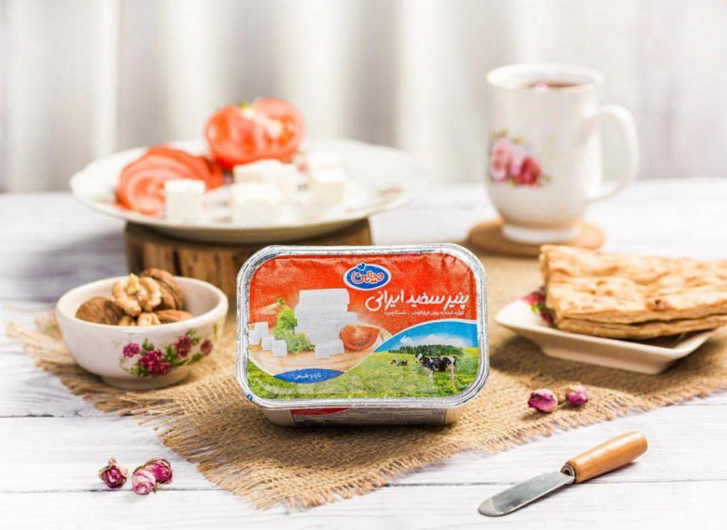 عکاسی صنعتی پنیر سفید ایرانی میهن