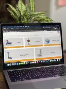 طراحی فروشگاه اینترنتی ترازو،باسکول ترازالکترونیک