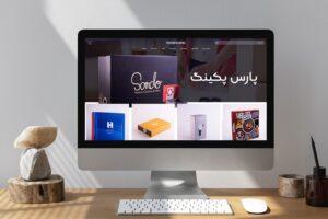 راه اندازی وب سایت فروشگاهی پارس پکینگ